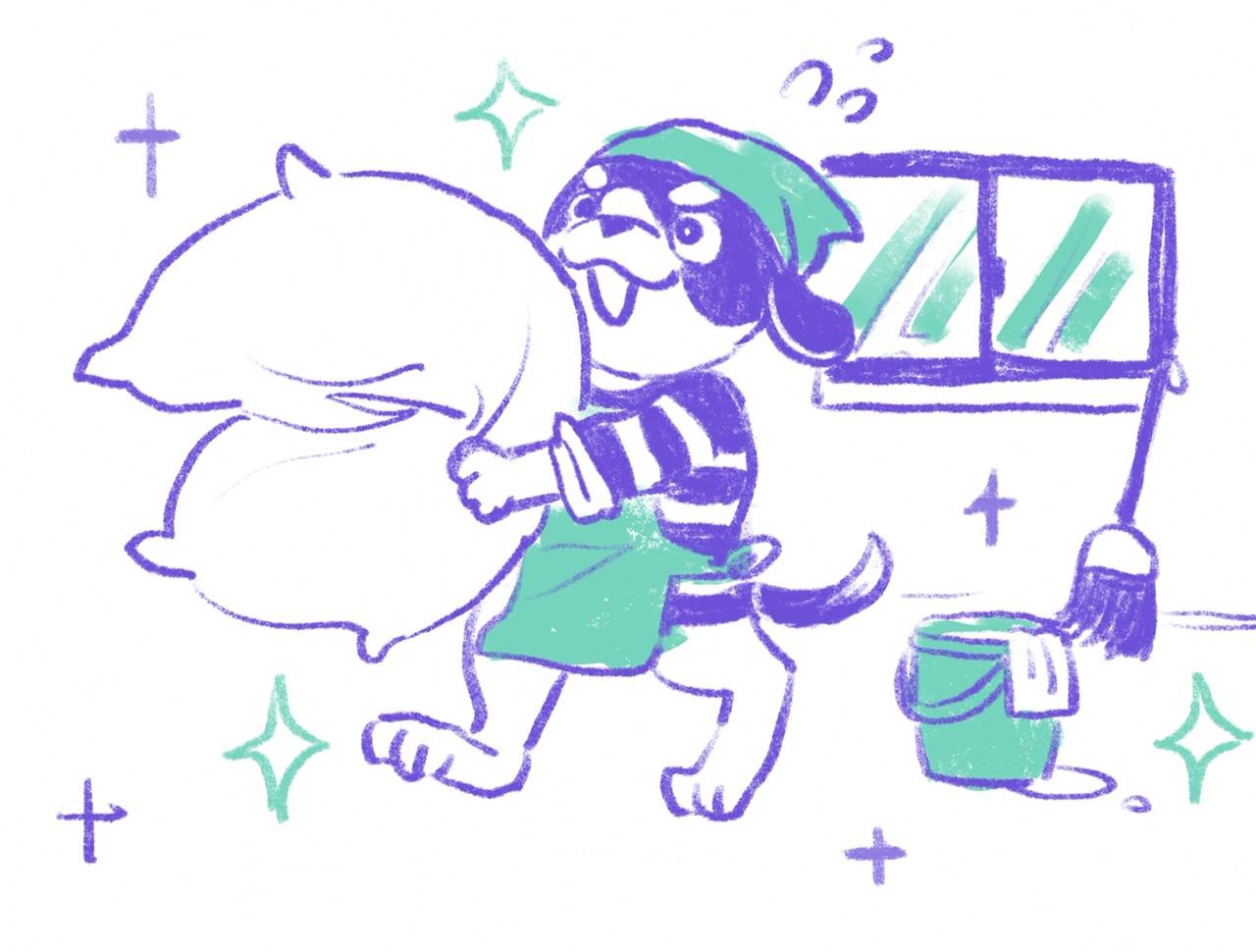 《シマイヌ日記》大掃除